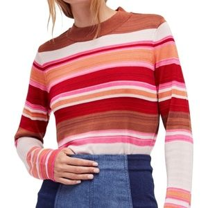 NWOT Free People Show Off Your Stripes Sweater